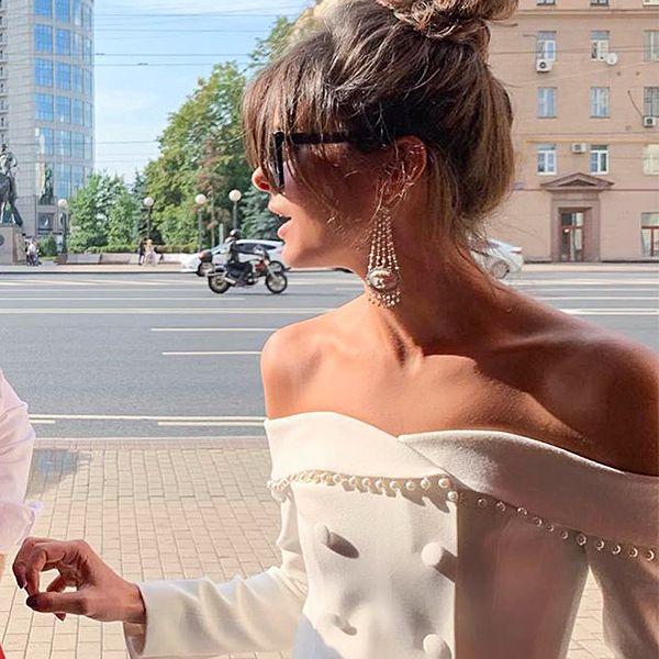 Надежда Оболенцева показала наряд, в котором вышла замуж за Резо Гигинеишвили