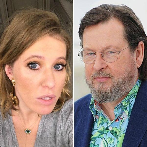 Ксения Собчак взяла интервью у Ларса фон Триера для своего шоу «Осторожно, Собчак!»