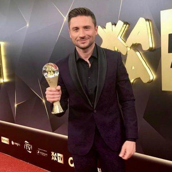 Представляющий Россию на «Евровидении-2019» Сергей Лазарев получил премию «Жара» в категории «Певец года»