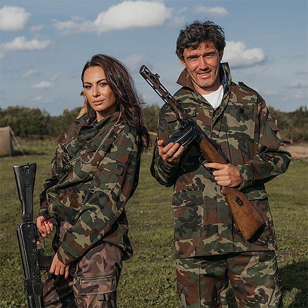 Инна Жиркова в качестве сюрприза устроила мужу празднование дня рождения на военном полигоне