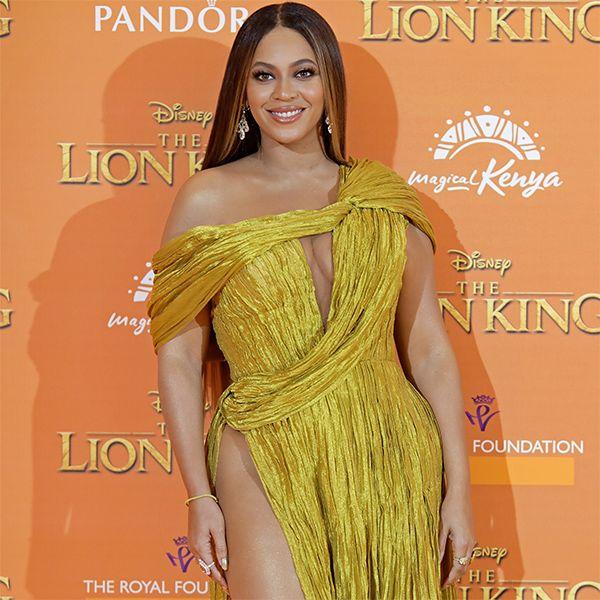 Бейонсе появилась в роскошном золотом платье на премьере фильма «Король Лев»