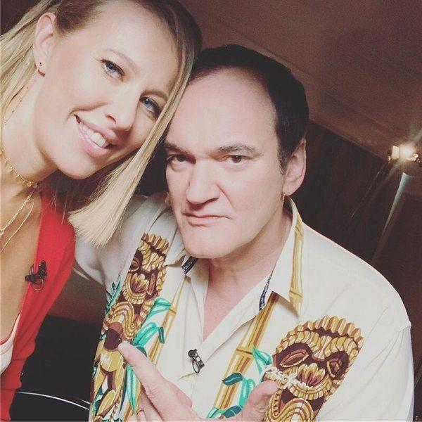 Квентин Тарантино дал интервью Ксении Собчак для ее YouTube-шоу «Осторожно, Собчак!»
