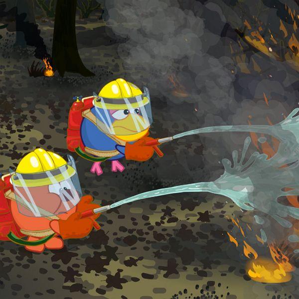 Телеканал «Карусель»показал специальную серию «Смешариков» о лесных пожарах