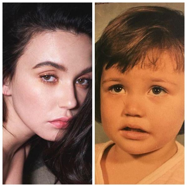 34-летняя Ольга Серябкина показала, как выглядела в детстве